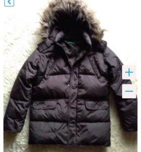 Пуховик куртка пальто Benetton зима рост 134-140