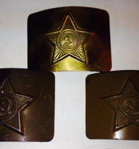 Пряжки солдатские СССР