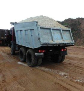 Доставим песок щебень уголь дрова керамзит