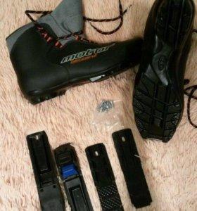 Ботинки лыжные с креплением 45 р-р