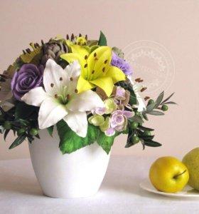 Ручная работа - Цветы для декора дома