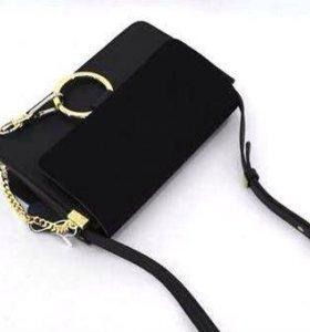 Новая женская кожаная сумочка с замшей