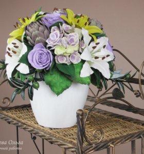 """Цветочная композиция """"Шарм"""" для декора дома"""