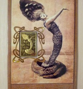 Медаль/жетон прямоугольной формы Год Змеи