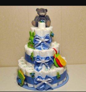 Тортики  из памперсов💞💞💞