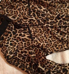 Блузка рубашка леопард