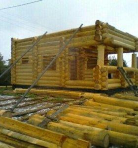 Продам лес для строительства домов сосна ель