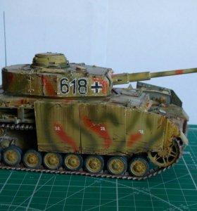 Коллекционная модель немецкого танка ТIV