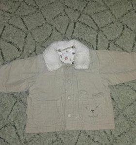 Вельветовая курточка 68 см