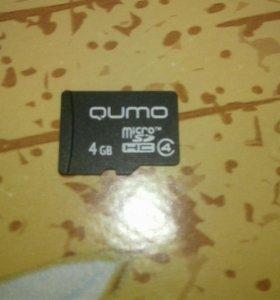 SD карта для телефона на 4 Гбайт
