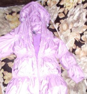 Зимняя куртка- пальто р.110-116