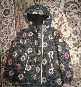 Куртка зимняя тонкая (лыжная), на девочку