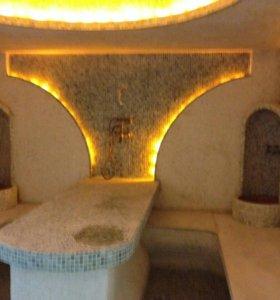 Строительство турецких хамамов, саун бань соляных