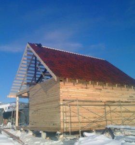 Строительство деревянных домов, бань и тд