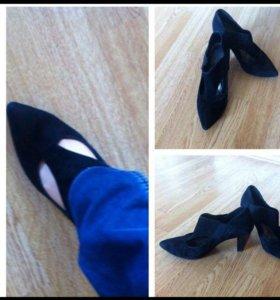 Туфли карнаби нат замша