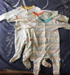 Слипы, боди mothercare