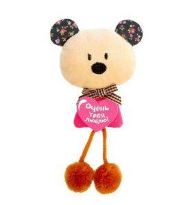 """Мягкая игрушка-магнит """"Очень тебя люблю"""" мишка 4,5"""