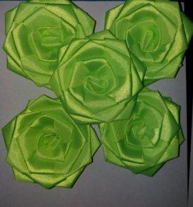 Розы пришивные, аппликация с пайетками