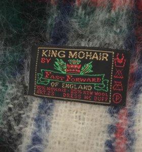 Мохеровый шарф , новый .