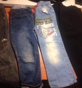 Много джинс, спорт. штанов