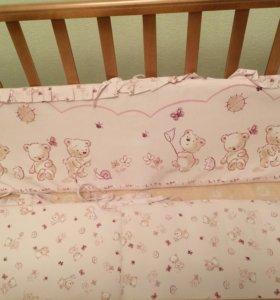 Кроватка детская +матрац ( кокос. стружка,бортики)