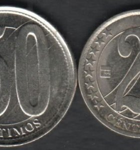 2 монеты Венесуэлы