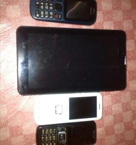 планшеты,телефоны.