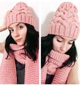 Комплект:шарф и шапка
