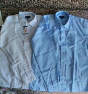 Рубашка с дл. Рукавом;бел.-4,6,8,9 лет;
