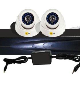 Комплект AHD видеонаблюдения на две камеры