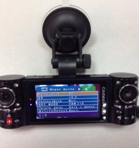 Видеорегистратор 2х камерный f600