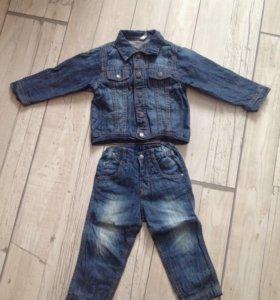 Детские вещи, джинсы, джинсовка