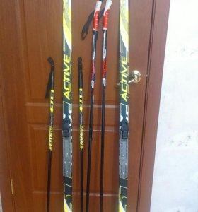 Лыжи бег ACTIVE STS  NNN 150- 205 см Ботинки Spine