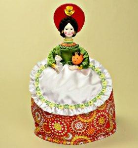 Дымковская игрушка, кукла грелка русский стиль