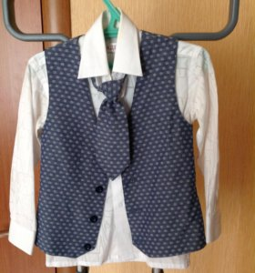 Жилет, галстук, рубашка