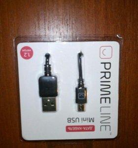 Кабель USB mini новый