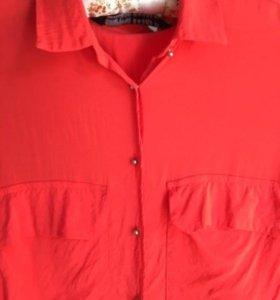 Коралловая блузка Zara