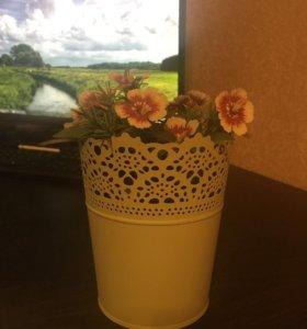 Горшок и Цветы Икеа