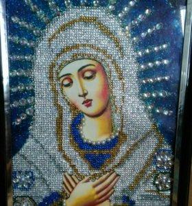"""Икона стразами Богородица""""умиление"""""""