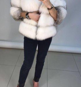 Шуба Автоледи из арктической лисы