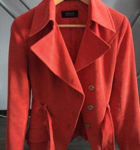 Куртка-Пиджак велюровый, утеплённый