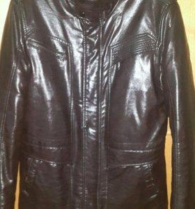 Куртка с мехом зам.кожа.