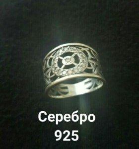 Кольцо женское, серебро 925. Массивное, красивое