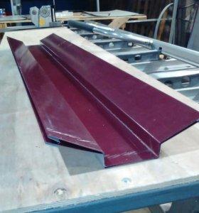 Накладка ендовы вишнёвого цвета RAL3005.