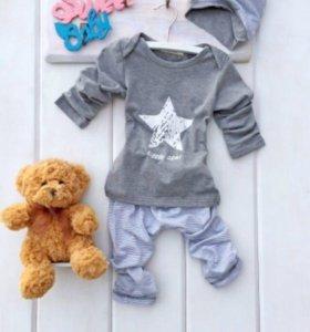 Новая пижамка со звездочкой для малыша