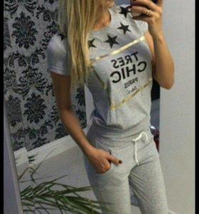 Костюм футболка +бриджи 💯%ХЛОПОК!