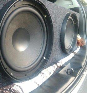 """SQ Сабвуфер Audio pro из домашки 2* 10"""""""