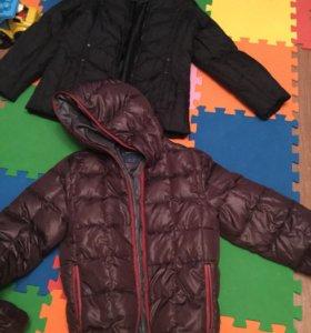 Куртки зимние пуховые р48 на рост 160