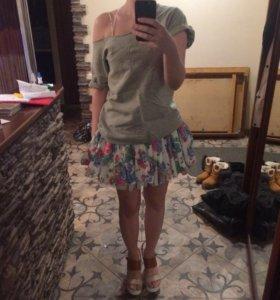 Платье с свитшотом