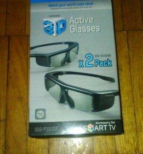 2 пары 3D очков Samsung ssg-3100gb x 2 pack